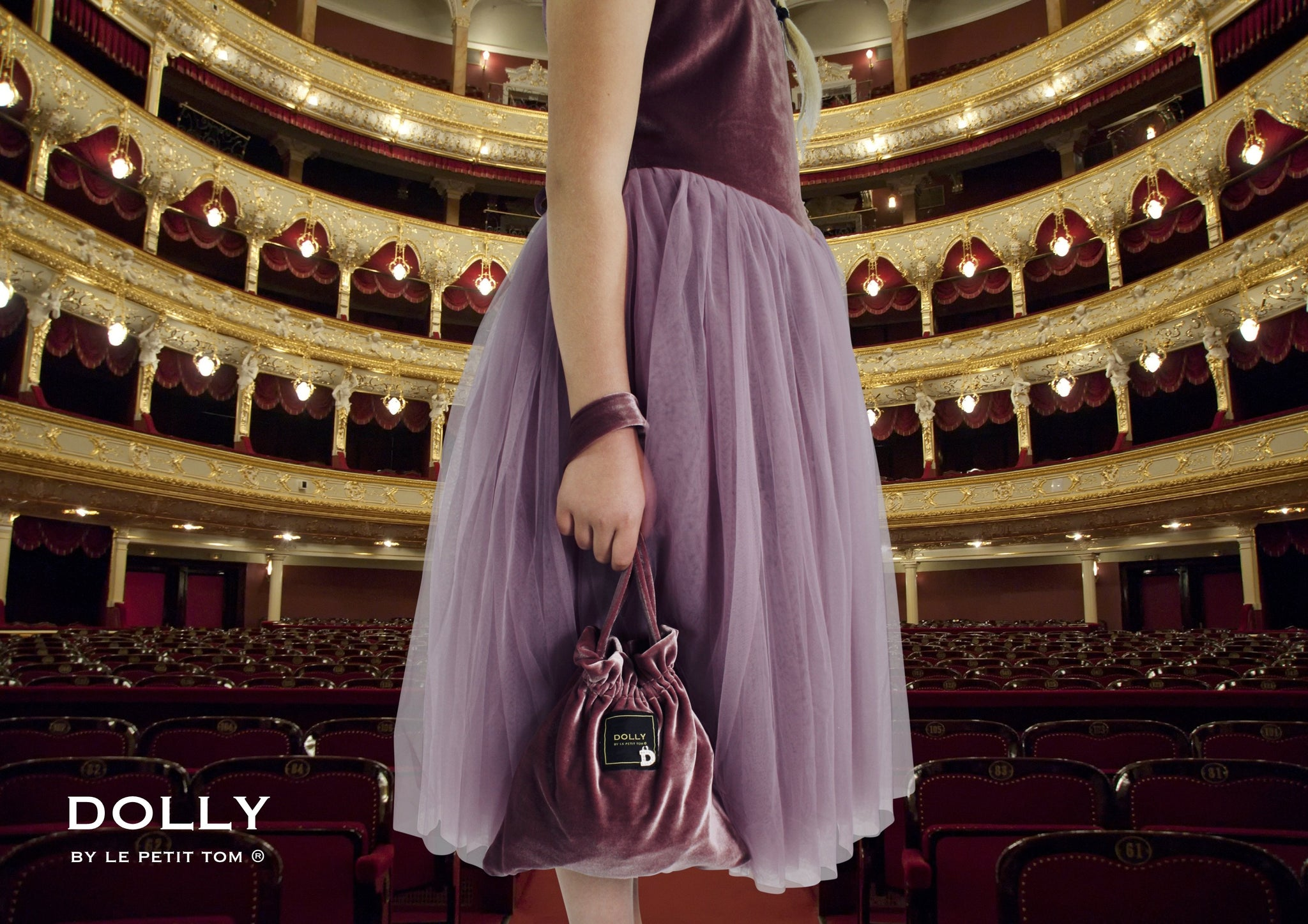 DOLLY by Le Petit Tom ® VELVET THE NEW LOOK tutu dress mauve - DOLLY by Le Petit Tom ®