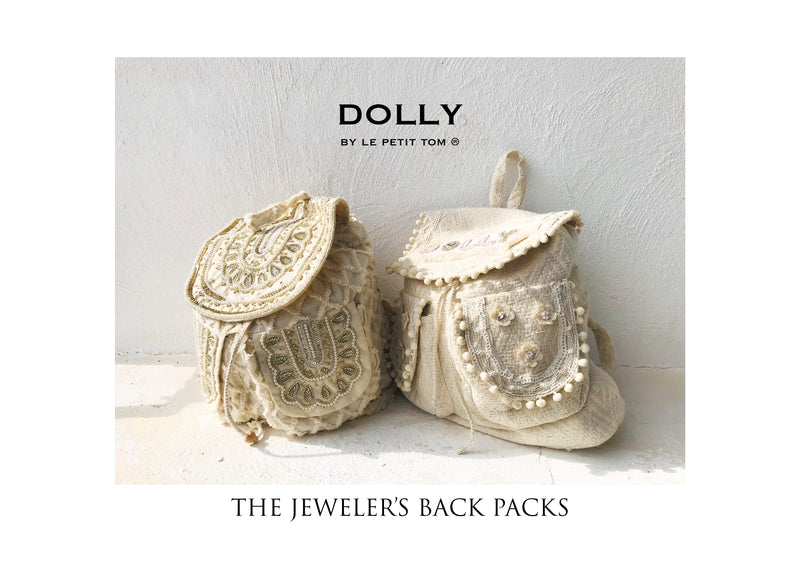 [OUTLET!] DOLLY JEWELER'S CRYSTALS Crystals backpack 'Dolly' with pompoms