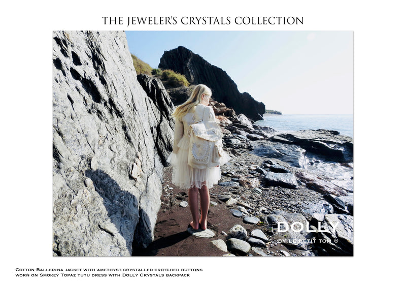 DOLLY JEWELER'S CRYSTALS ballerina jacket with amethyst crystals