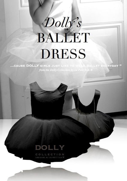 DOLLY by Le Petit Tom ® BALLET DRESS black - DOLLY by Le Petit Tom ®