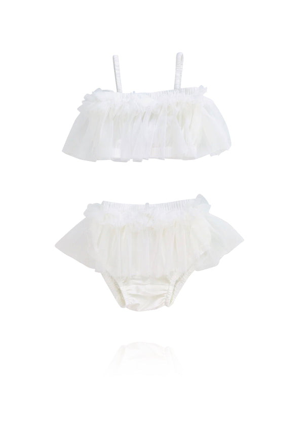 [ OUTLET!] DOLLY by Le Petit Tom ® BEACH BALLERINA BIKINI/ UNDERWEAR off-white