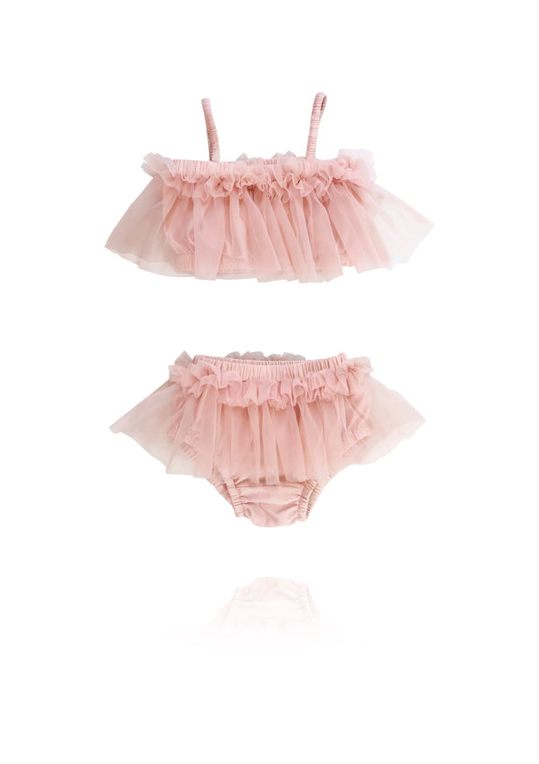 [ OUTLET!] DOLLY by Le Petit Tom ® BEACH BALLERINA BIKINI/ UNDERWEAR ballet pink