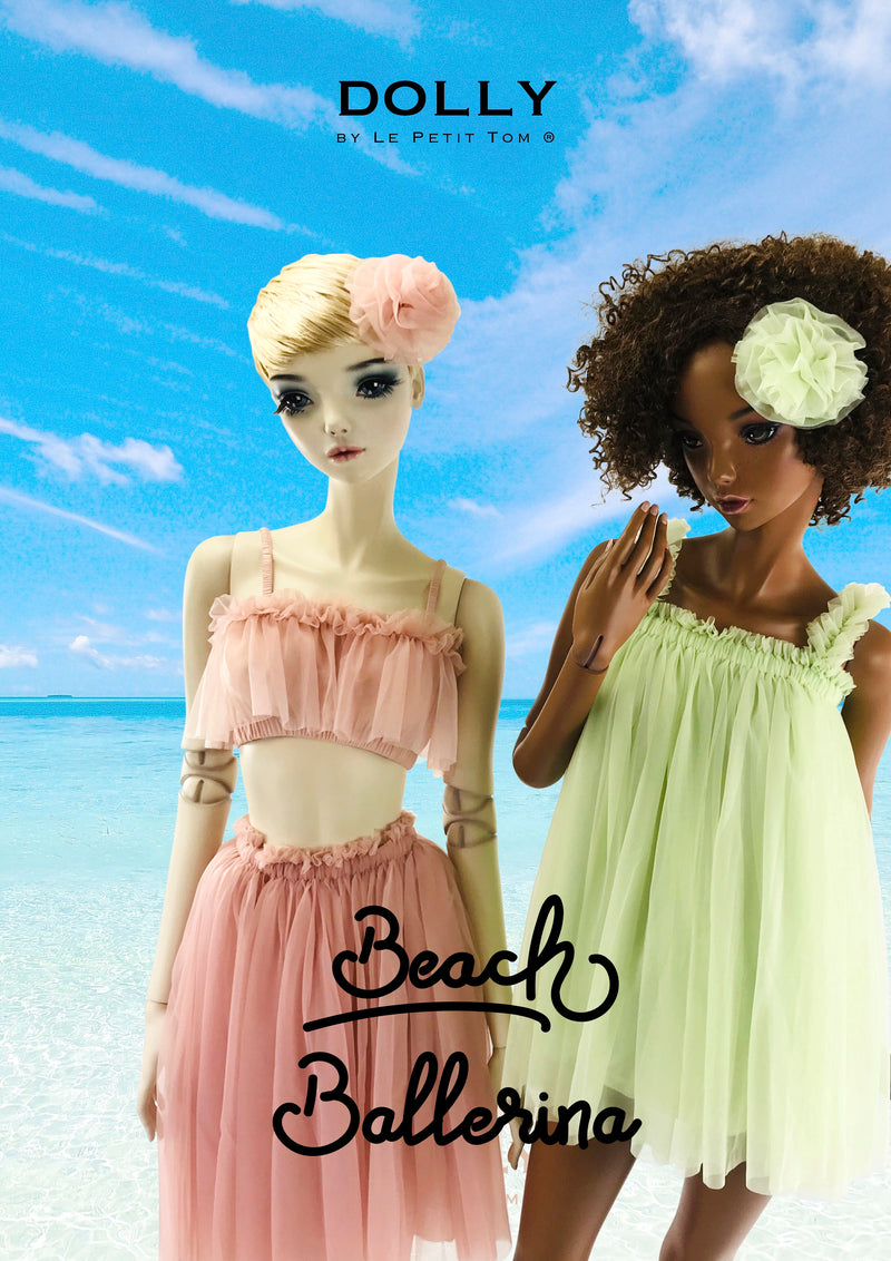DOLLY by Le Petit Tom ® TUTU DRESS BEACH COVER UP neo mint