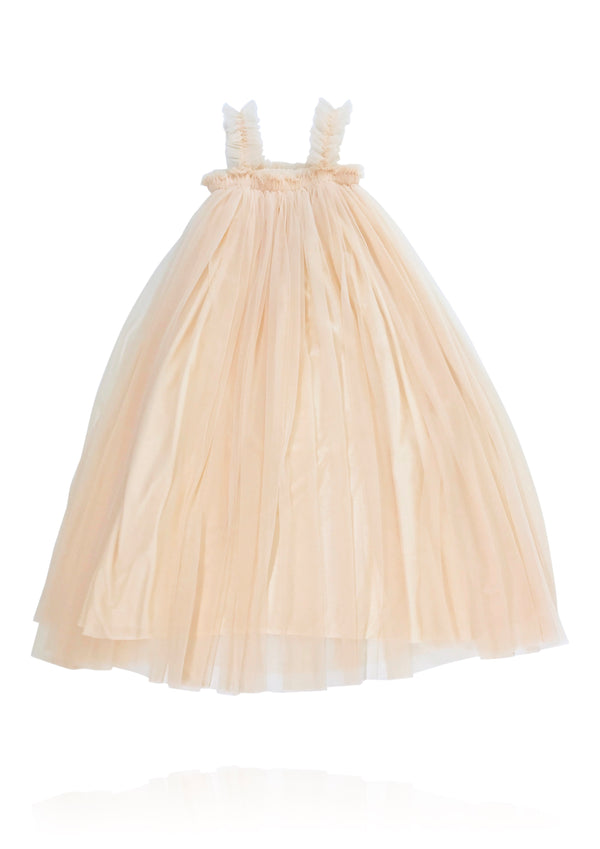 DOLLY by Le Petit Tom ® MAXI TUTU DRESS BEACH COVER UP cream