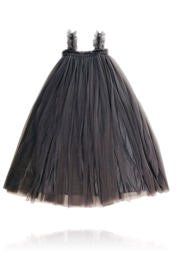 [OUTLET!]DOLLY by Le Petit Tom ® MAXI TUTU DRESS BEACH COVER UP dark grey