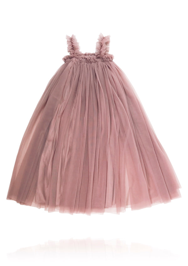 DOLLY by Le Petit Tom ® MAXI TUTU DRESS BEACH COVER UP mauve