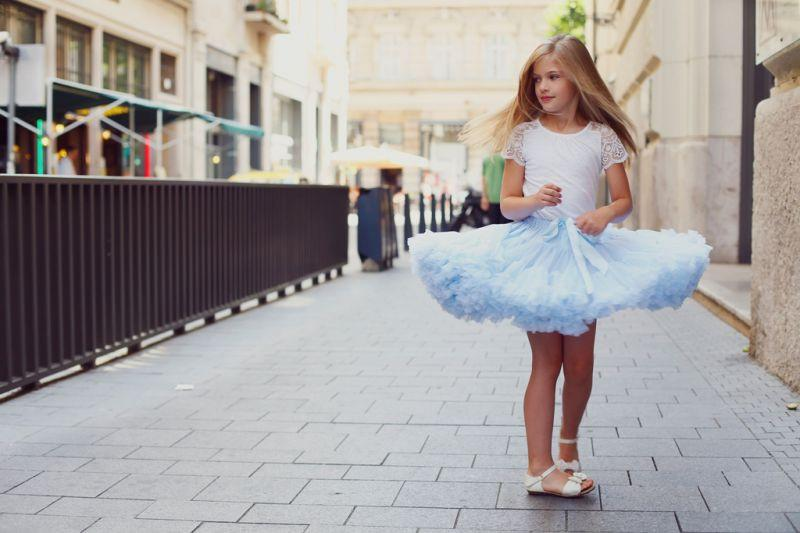 DOLLY by Le Petit Tom ® ALICE IN WONDERLAND pettiskirt light blue - DOLLY by Le Petit Tom ®
