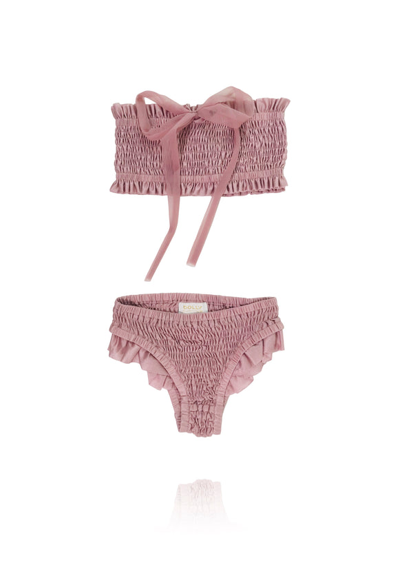 DOLLY by Le Petit Tom ® SMOCKED BIKINI/ UNDERWEAR mauve