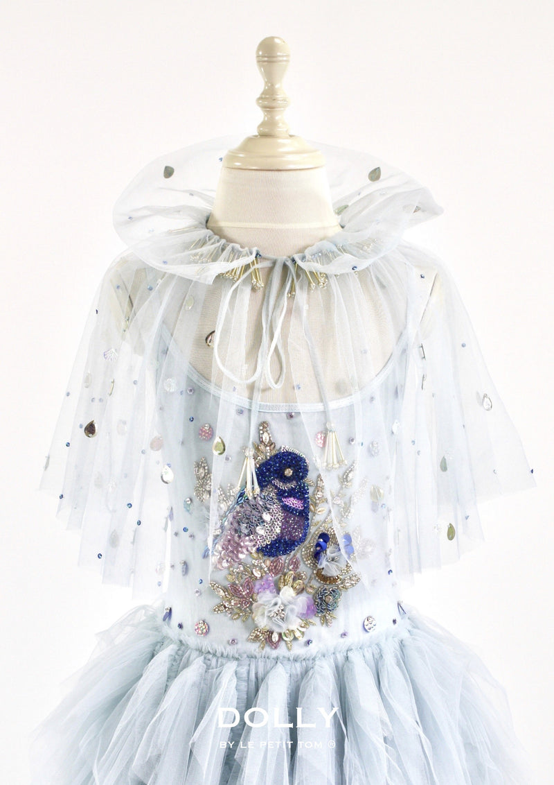 DOLLY by Le Petit Tom ® BLUE BIRD cape light blue - DOLLY by Le Petit Tom ®