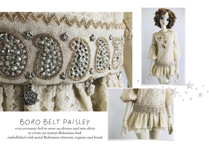 DOLLY by Le Petit Tom ® BOHO belt paisley - DOLLY by Le Petit Tom ®