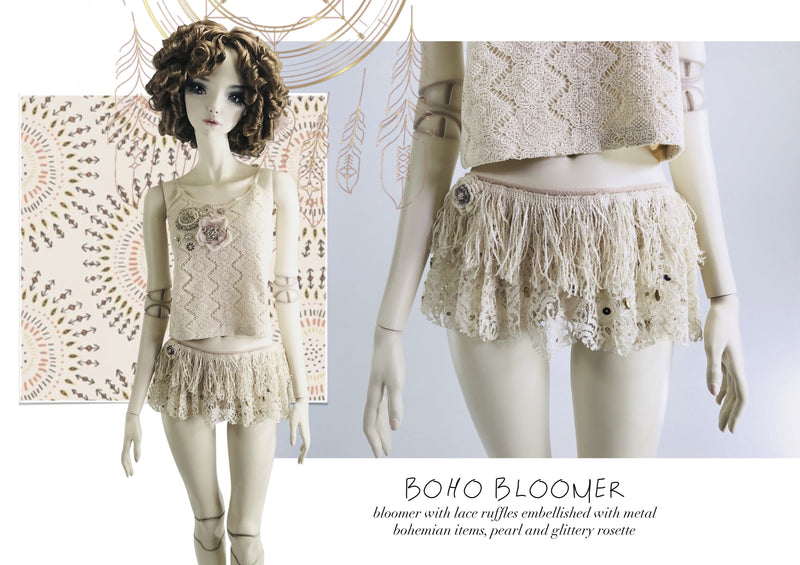 DOLLY by Le Petit Tom ® BOHO bloomer violet - DOLLY by Le Petit Tom ®