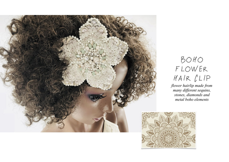 DOLLY by Le Petit Tom ® BOHO flower hair clip set of 2 - DOLLY by Le Petit Tom ®