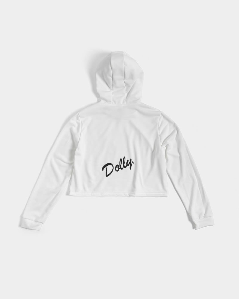 DOLLY BUST SILHOUETTE Women's Cropped Hoodie