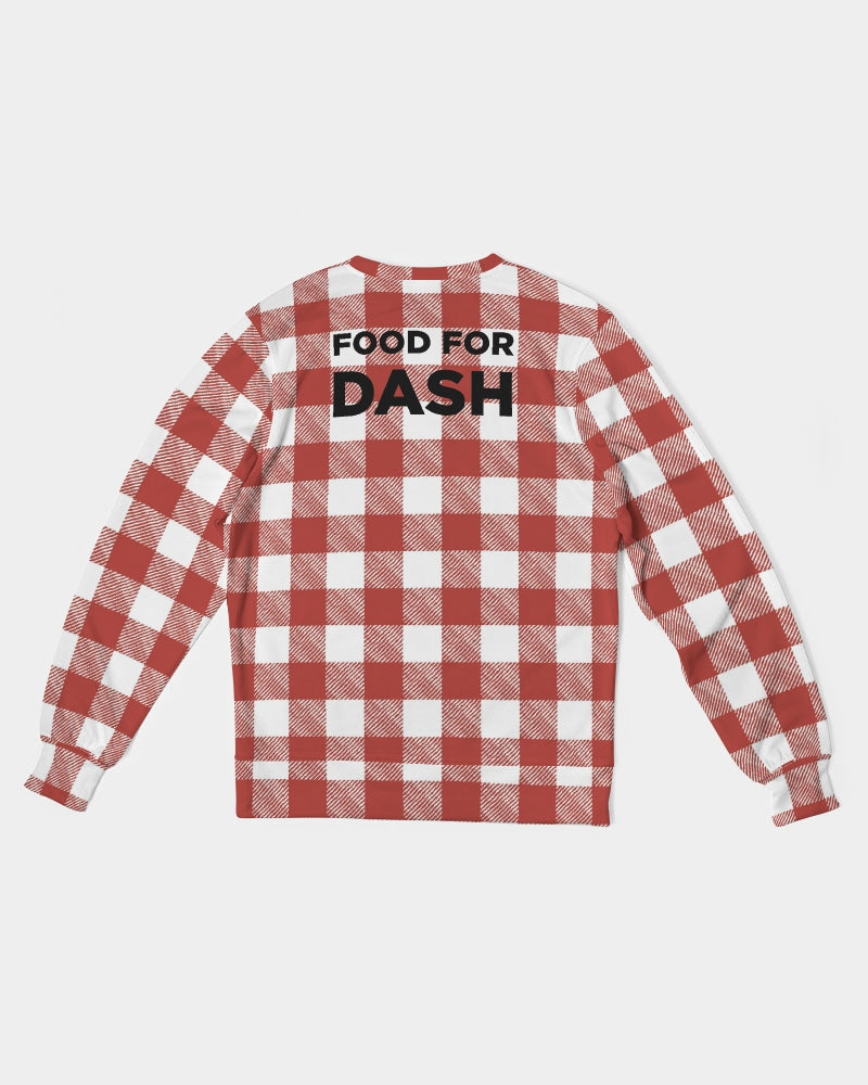 FOOD FOR DASH Men's Classic French Terry Crewneck Pullover
