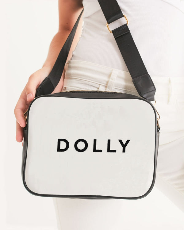 DOLLY LOGO Crossbody Bag white