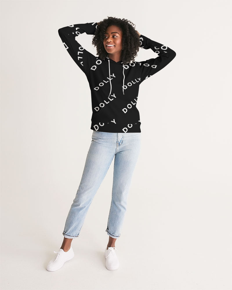 DOLLY REPEAT LOGO BLACK Women's Hoodie