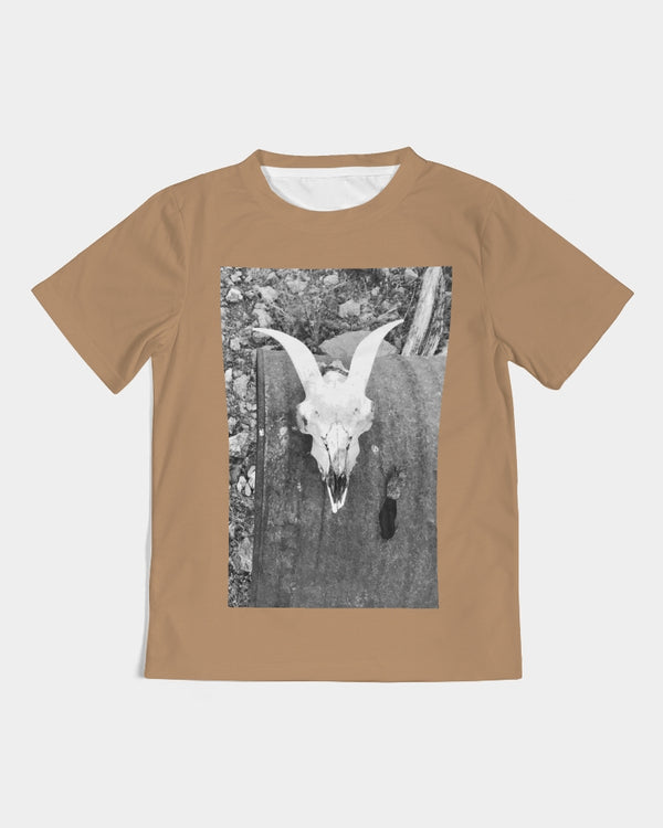 DASH CAPRICORN SKULL BROWN Kids Tee
