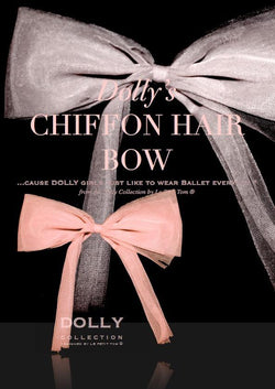 DOLLY by Le Petit Tom ® CHIFFON HAIR BOW - DOLLY by Le Petit Tom ®