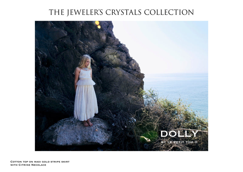 DOLLY by Le Petit Tom ® JEWELER'S CRYSTALS  cotton top with lurex