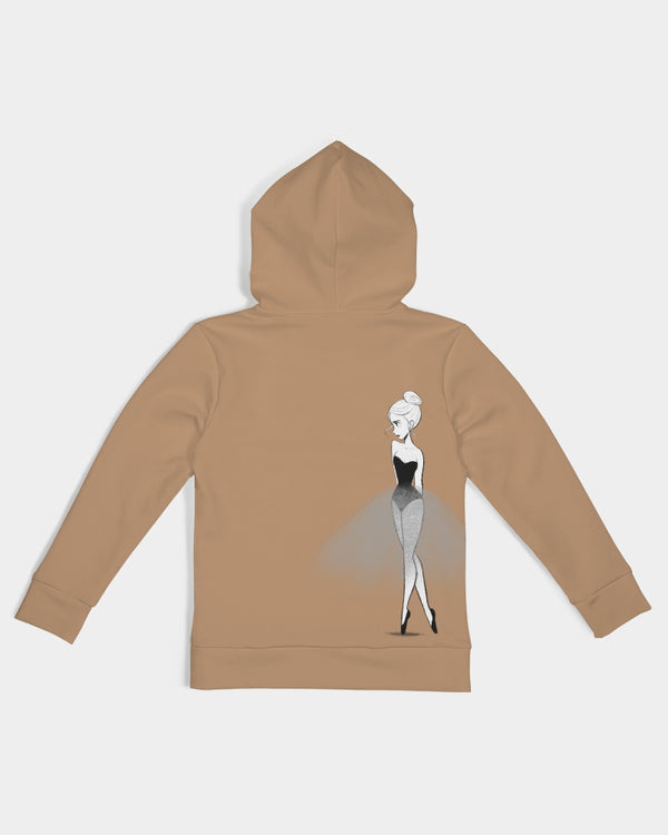 DOLLY DOODLING BAMBI BROWN Kids Hoodie