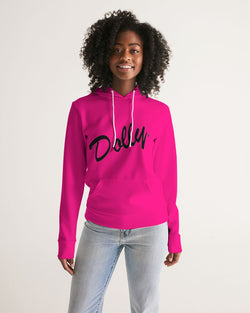 DOLLY Oblique Logo Pure Pink Women's Hoodie