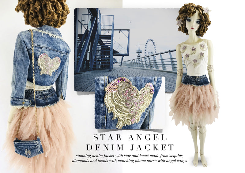 DOLLY by Le Petit Tom ® ANGELS angel wing denim phone purse - DOLLY by Le Petit Tom ®
