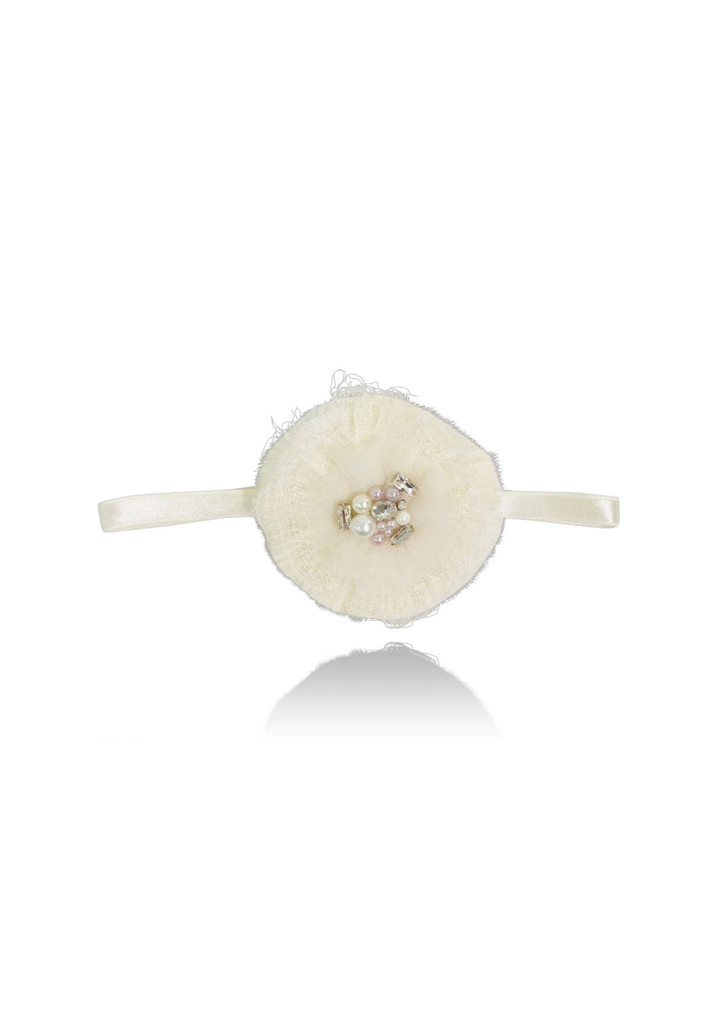 [OUTLET!] DOLLY JEWELER'S CRYSTALS diamonds & pearls kota cotton headband