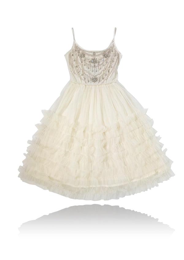 DOLLY by Le Petit Tom ® JEWELER'S CRYSTALS Diamonds & Pearls tutu dress