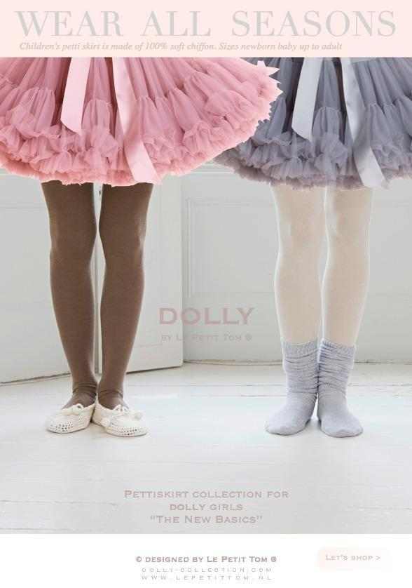 DOLLY by Le Petit Tom ® GRACE KELLY pettiskirt silvergrey - DOLLY by Le Petit Tom ®