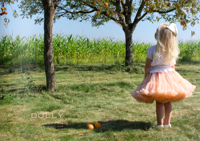 DOLLY by Le Petit Tom ® PRINCESS & THE FROG pettiskirt pale apricot - DOLLY by Le Petit Tom ®