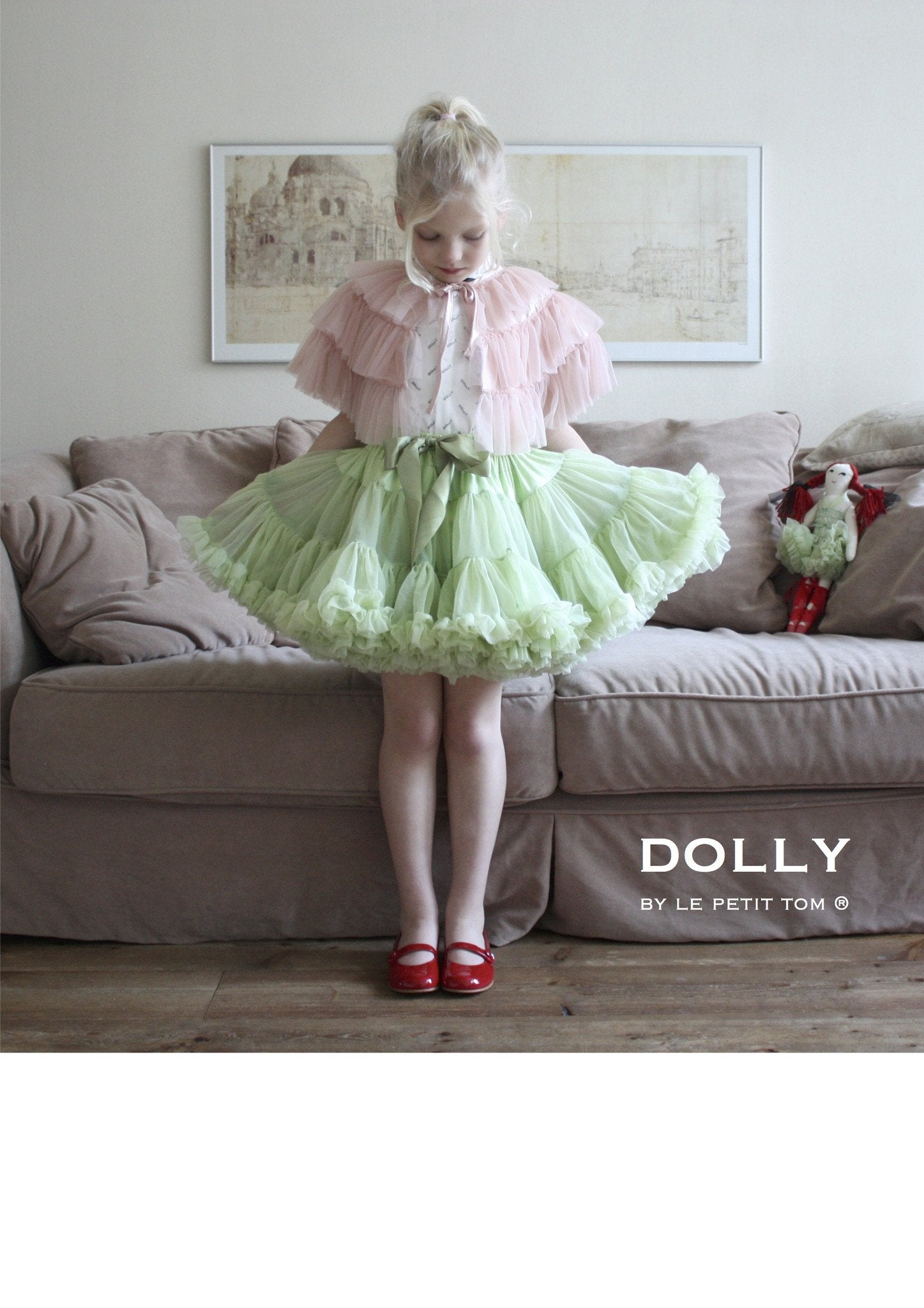 DOLLY by Le Petit Tom ® DRAGONFLY FAIRY DOLL light green - DOLLY by Le Petit Tom ®
