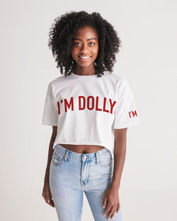 I'M DOLLY RED Women's Lounge Cropped Tee