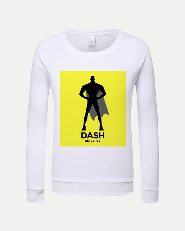 DASH UNIVERSE Neon Yellow Kids Graphic Sweatshirt