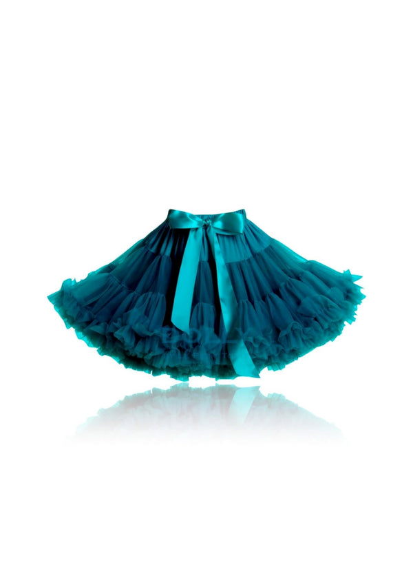[OUTLET!] DOLLY by Le Petit Tom ® BLUE BIRD pettiskirt emerald