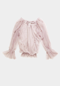 [ PRE ORDER *] DOLLY by Le Petit Tom ® FAIRY TOP LONGSLEEVE ballet pink