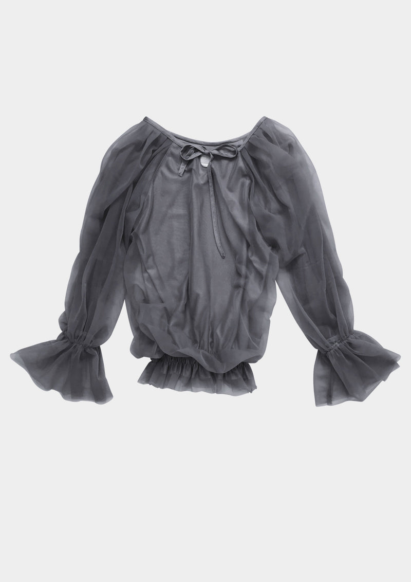 DOLLY by Le Petit Tom ® FAIRY TOP LONGSLEEVE dark grey