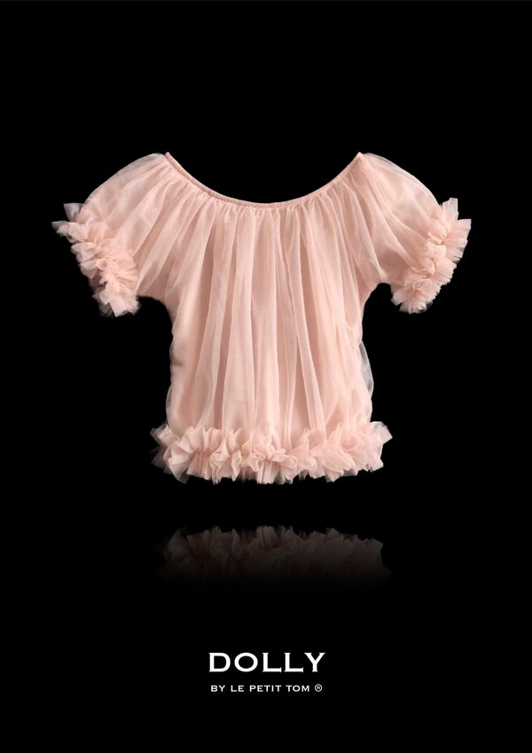 DOLLY by Le Petit Tom ® FRILLY PRINCESS TOP ballet pink