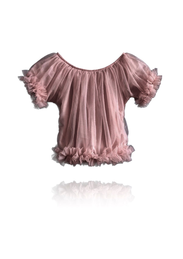 DOLLY by Le Petit Tom ® FRILLY PRINCESS TOP mauve