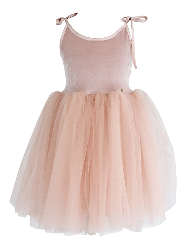 DOLLY by Le Petit Tom ® VELVET SABRINA TUTU dress ballet pink - DOLLY by Le Petit Tom ®