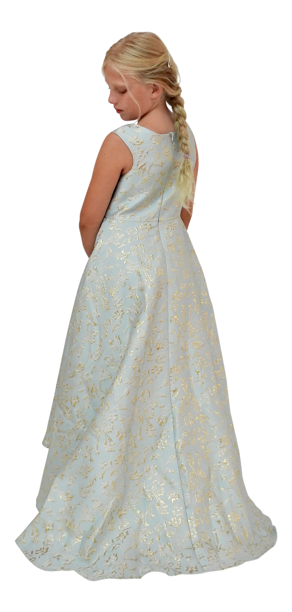 [OUTLET!] DOLLY by Le Petit Tom ® VIVID ANIMATED PRINCESS ELSA JACQUARD DRESS light blue