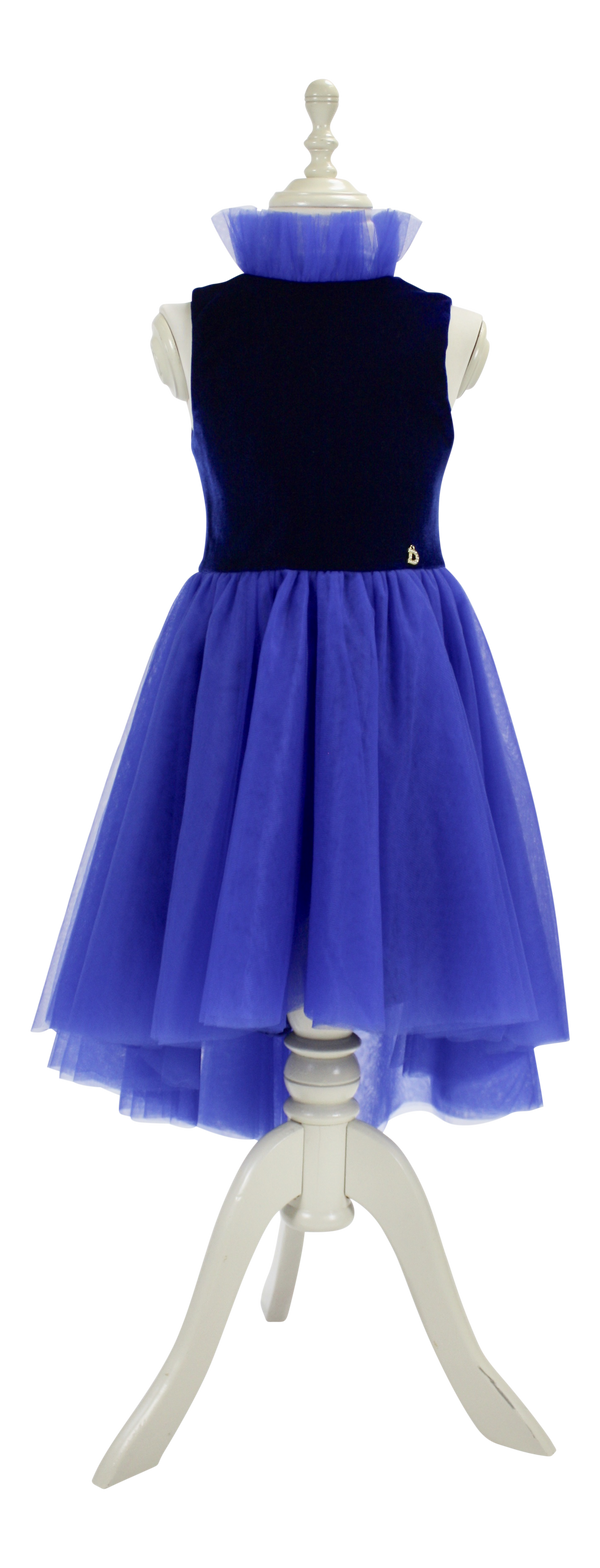 DOLLY by Le Petit Tom ® VELVET ROYAL HIGHNESS TUTU DRESS royal blue - DOLLY by Le Petit Tom ®
