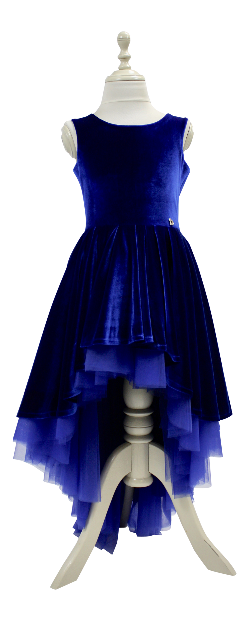 DOLLY by Le Petit Tom ® VELVET DUCHESS DRESS royal blue - DOLLY by Le Petit Tom ®