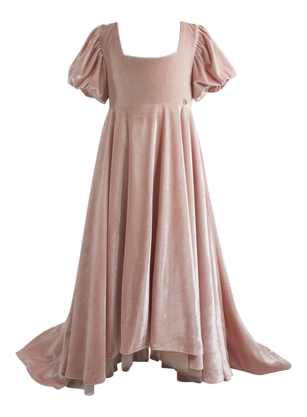 DOLLY by Le Petit Tom ® VELVET EMPRESS DRESS ballet pink (Sample) - DOLLY by Le Petit Tom ®