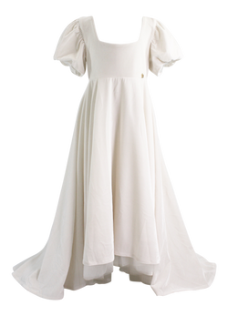 DOLLY by Le Petit Tom ® VELVET EMPRESS DRESS off-white ( Sample) - DOLLY by Le Petit Tom ®