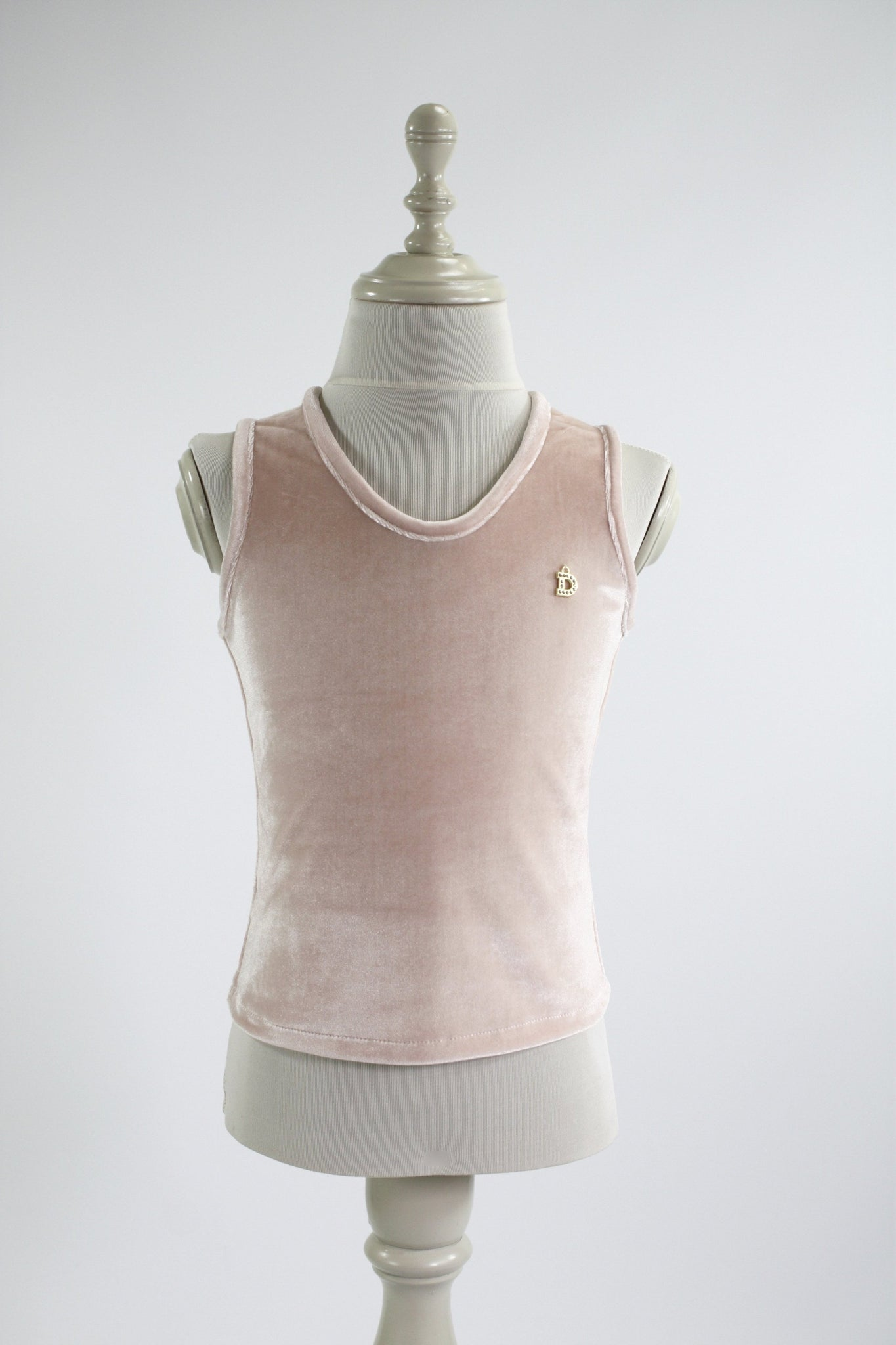 DOLLY by Le Petit Tom ® VELVET TANK TOP ballet pink