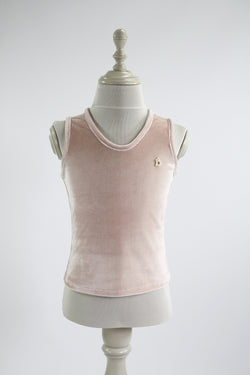 DOLLY by Le Petit Tom ® VELVET TANK TOP ballet pink - DOLLY by Le Petit Tom ®