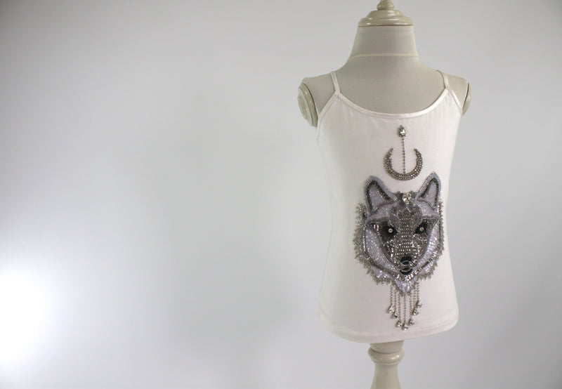 DOLLY by Le Petit Tom ® WOLF top silvergrey - DOLLY by Le Petit Tom ®