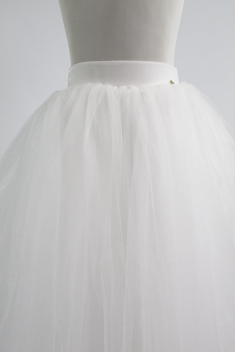 DOLLY by Le Petit Tom ® VELVET LONG TUTU off-white - DOLLY by Le Petit Tom ®