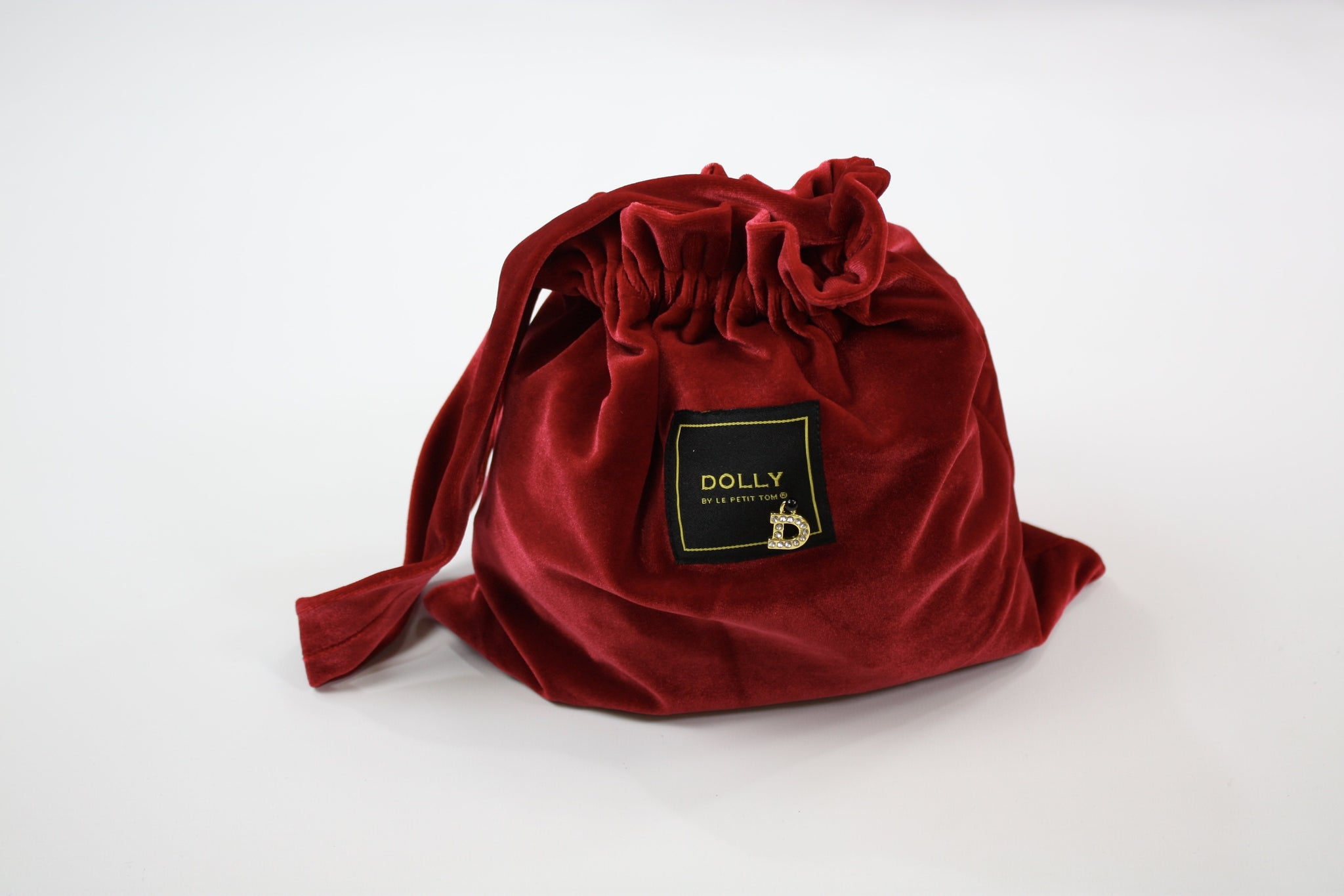 DOLLY by Le Petit Tom ® VELVET POUCH BAG red