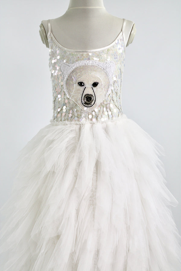 DOLLY by Le Petit Tom ® ICE BEAR tutu dress white - DOLLY by Le Petit Tom ®